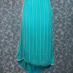 Dresses & Skirts - 1920' style aqua beaded skirt